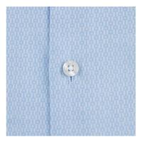 Geometric Jacquard Formal Shirt Blue