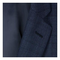 Tailored Check Suit Jacket Navy