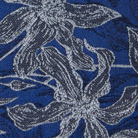 Orchid Pattern Tie Blue