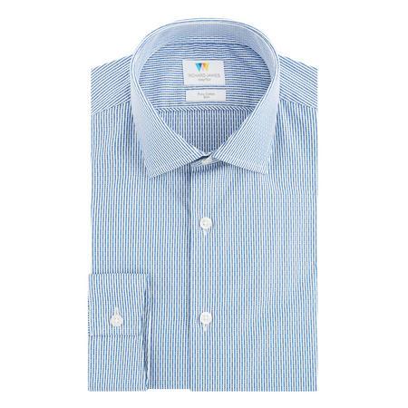 Dobby Stripe Formal Shirt Blue