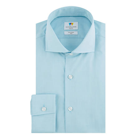 Chambray Slim Fit Formal Shirt Blue