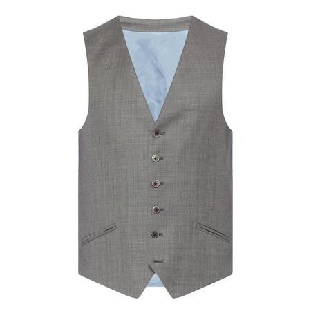 Sharkskin Waistcoat Grey