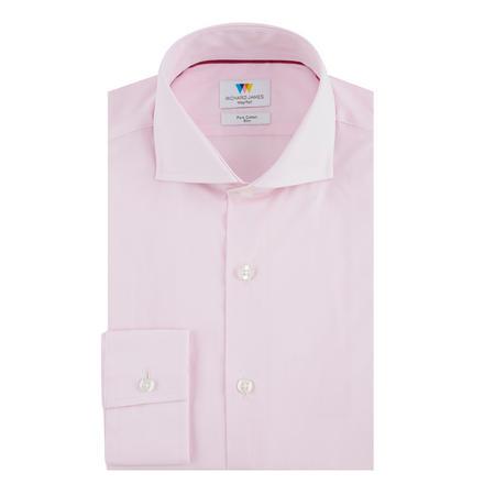 Chambray Slim Fit Formal Shirt Pink