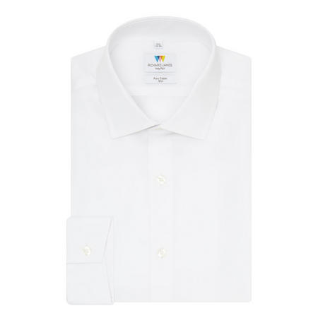 Ottoman Slim Fit Twill Shirt White