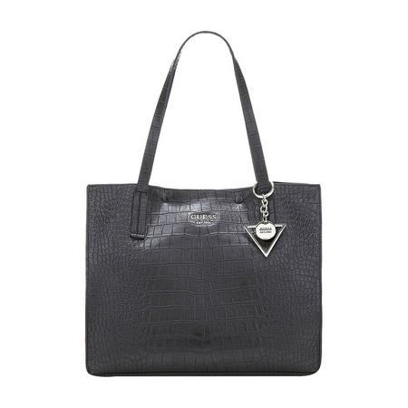 Kinley Crocodile Shoulder Bag Black