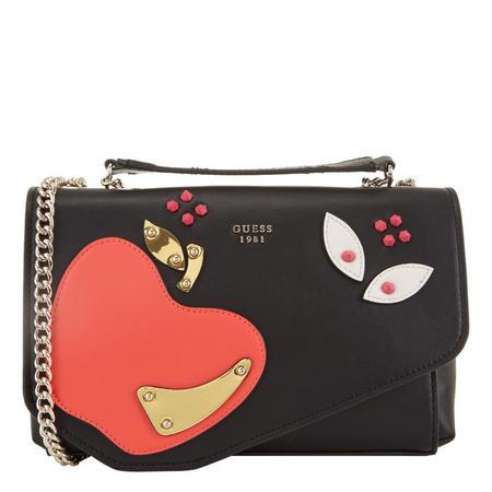 Fruit Flap Crossbody Bag Black