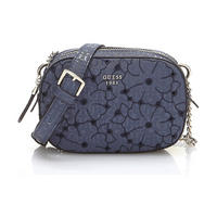 Jayne Flower Print Crossbody Bag Blue