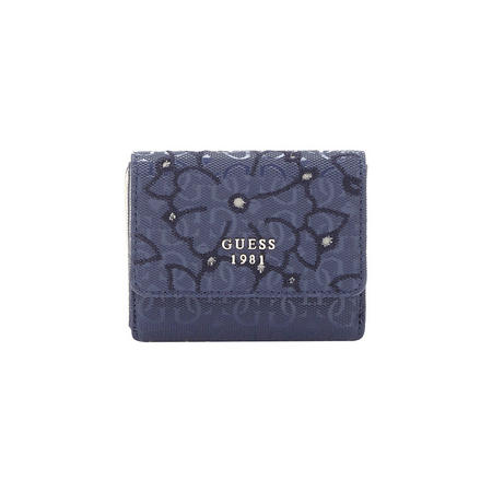 Flower Pattern Cardholder Wallet Blue