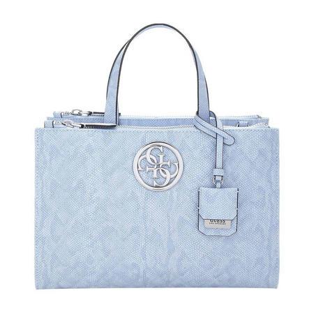 Snake Print Satchel Bag Blue