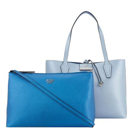 Bobbi Top Zip Tote Bag Blue