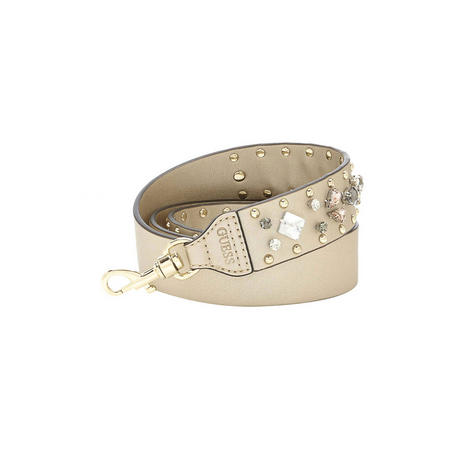 Jewel Embellished Bag Strap Gold-Tone