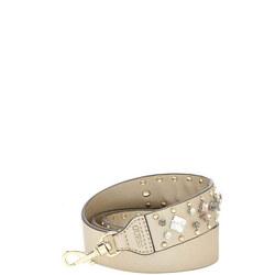 Jewel Embellished Bag Strap Gold-Tone