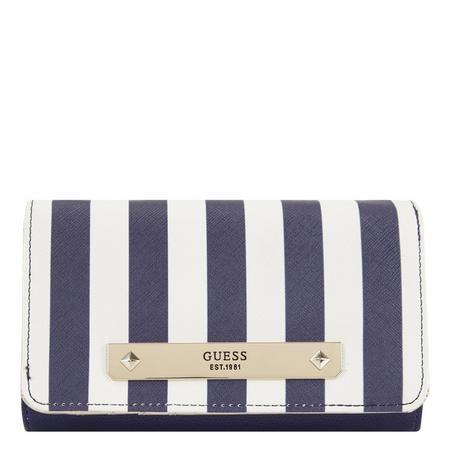 Britta Striped Flap Wallet Multicolour