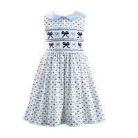 Bow Print Dress White