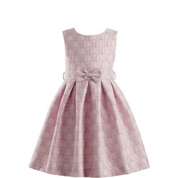 Damask Rose Print Dress Pink