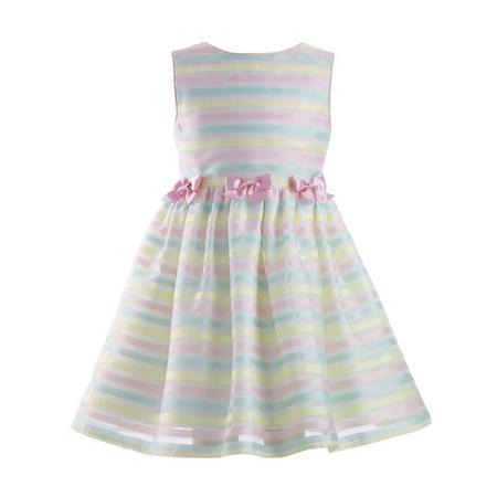 Striped Bow Detail Dress Multicolour