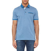 Jacquard Print Polo Shirt Blue