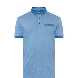 Jacquard Print Polo Shirt Blue