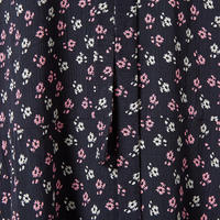 Diamante Floral Print Dress Navy