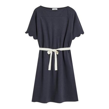 Corinne Milano Rib Jersey Dress Navy