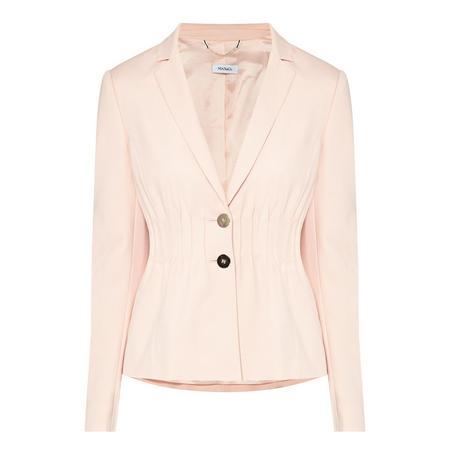 Double-Button Suit Jacket Pink