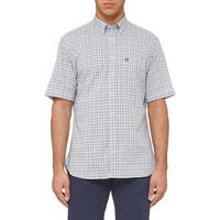 Micro-Check Shirt Blue