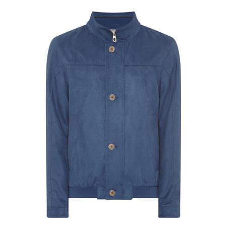 Velour Bomber Jacket Blue