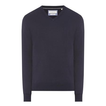 V-Neck Knit Sweater Navy