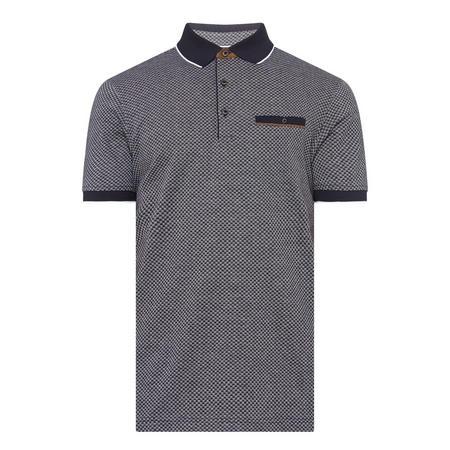 Jacquard Print Polo Shirt Navy