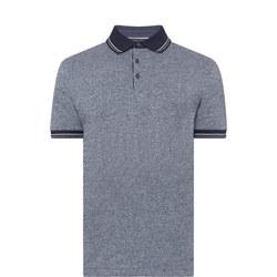 Marl Print Polo Shirt Blue