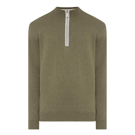 Half-Zip Logo Sweater Green