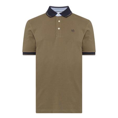 Contrast Trims Polo Shirt Green
