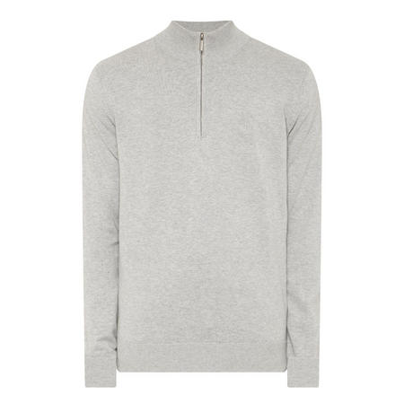 Half-Zip Logo Sweater Grey