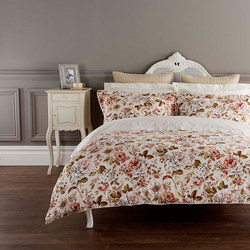 Classic Rose Duvet Set Russett Brown