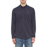 Pattern Oxford Shirt Blue