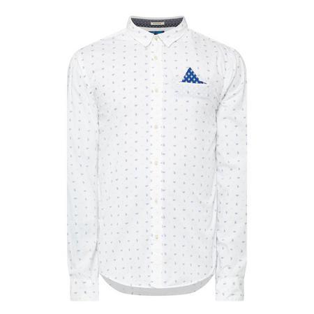 Paisley Print Shirt White