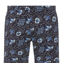 Printed Chino Shorts Navy