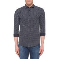 Contemporary Print Shirt Black