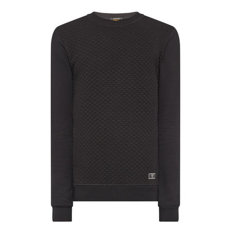 Crew Neck Sweat Top Black