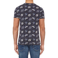 Navy Floral Print T-Shirt Navy