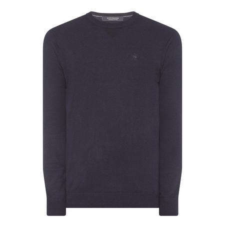 Crew Neck Logo Sweater Navy