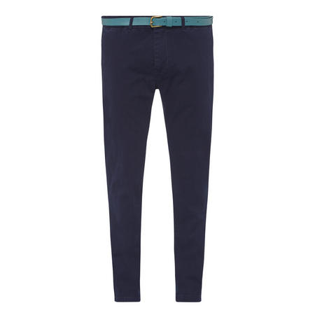 Belted Chinos Navy