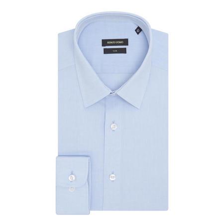 Solid Slim Fit Formal Shirt Blue