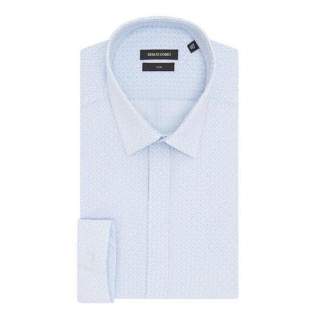 Retro Print Shirt Blue