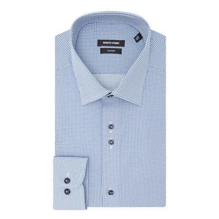Geometric Print Shirt Blue