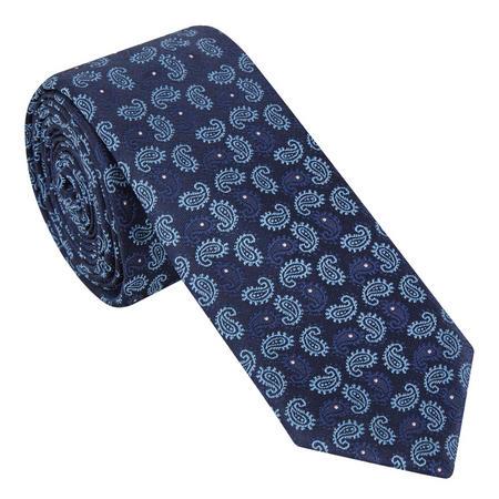 Paisley Pattern Tie Navy