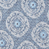 Woven Circle Tie Blue