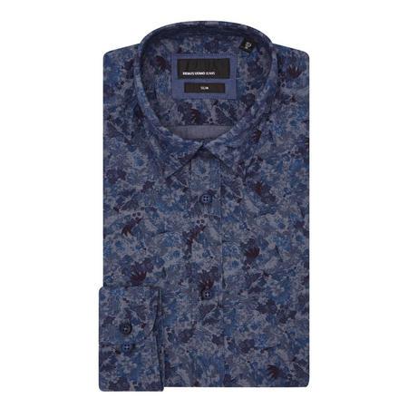 Floral Slim Fit Shirt Navy