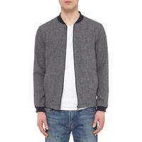 Zip-Through Bomber Jacket Grey