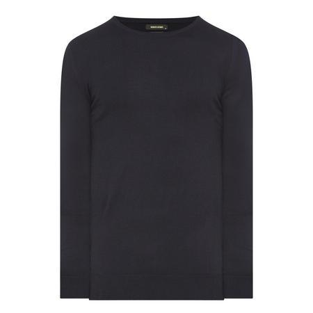 Slim Fit Merino Blend Sweater Navy